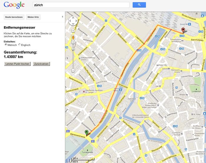 google maps entfernungen messen reisen blog. Black Bedroom Furniture Sets. Home Design Ideas