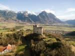 Luftaufnahme Burg Wartau Azmoos 2016