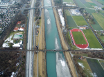 Luftaufnahme Rhein Buchs 2016